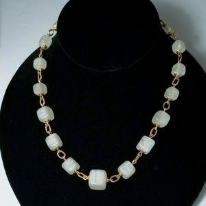 Vintage Gold & Jade Monet necklace